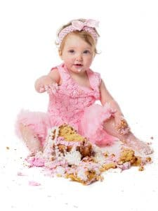 Demolish the cake and leave the mess